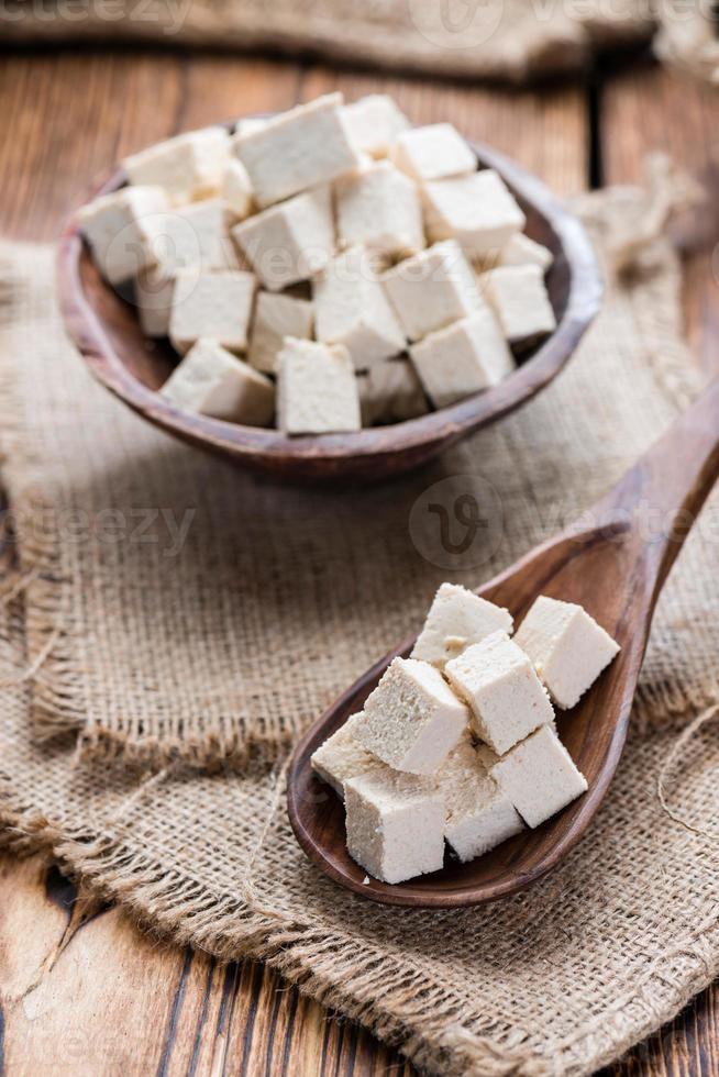 blocco di tofu foto