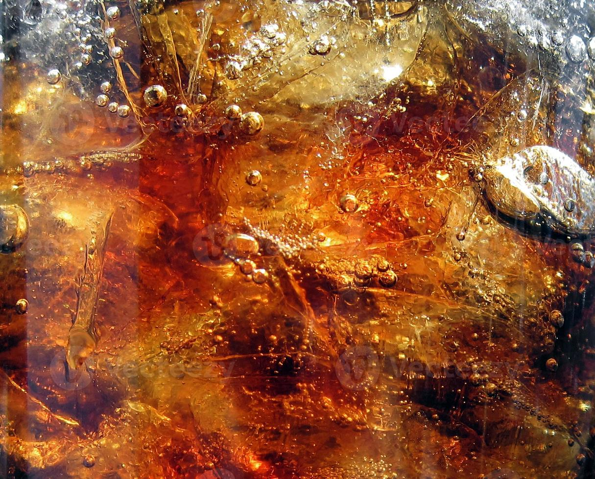 bolle di cola, ghiaccio e aria foto