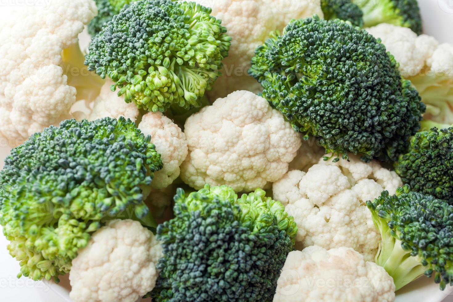 broccoli e cavolfiori foto