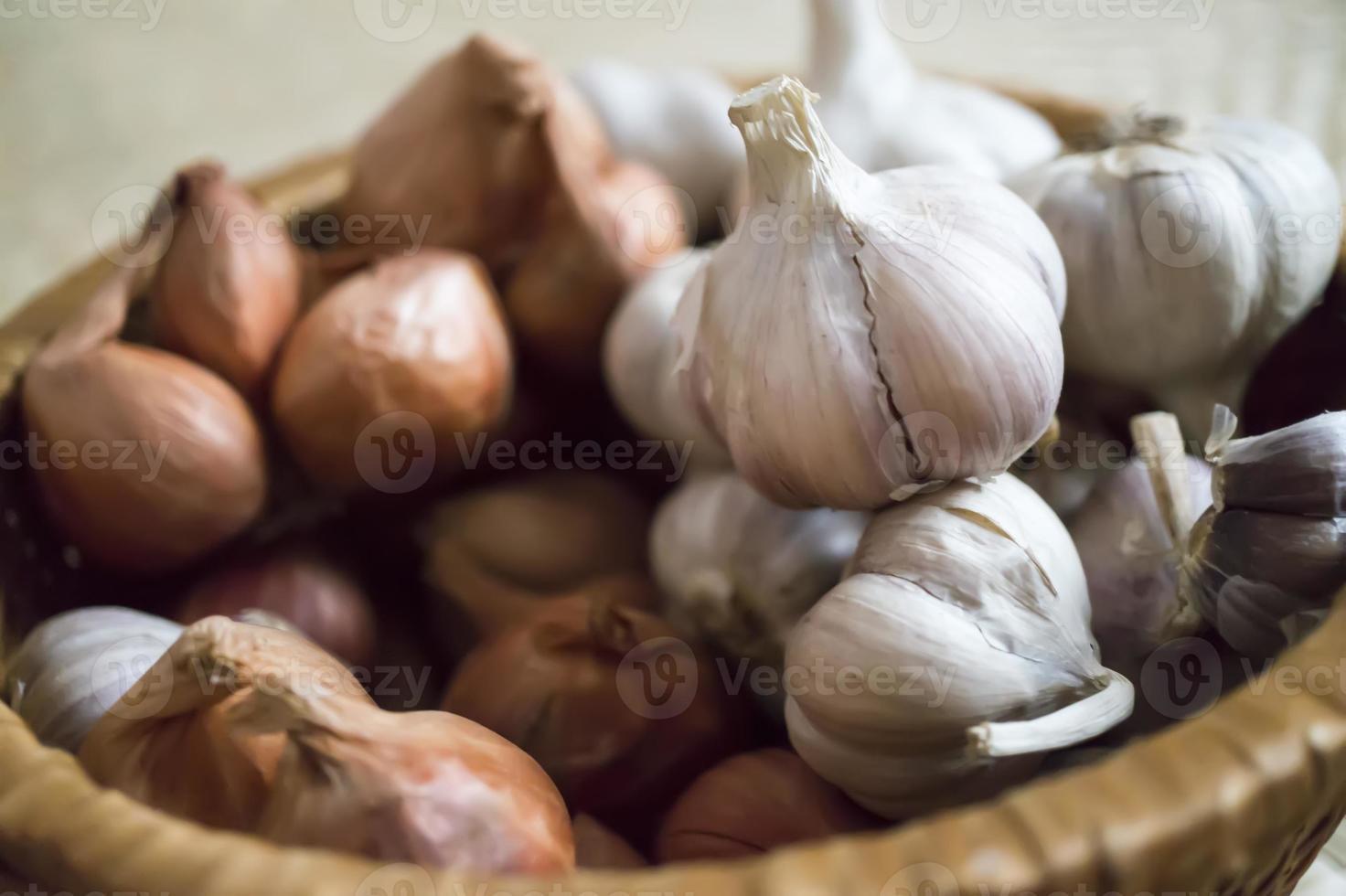 scalogno e aglio foto