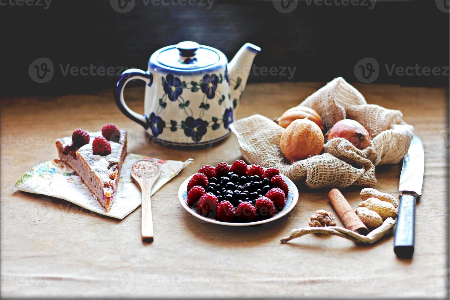 la torta di lamponi foto