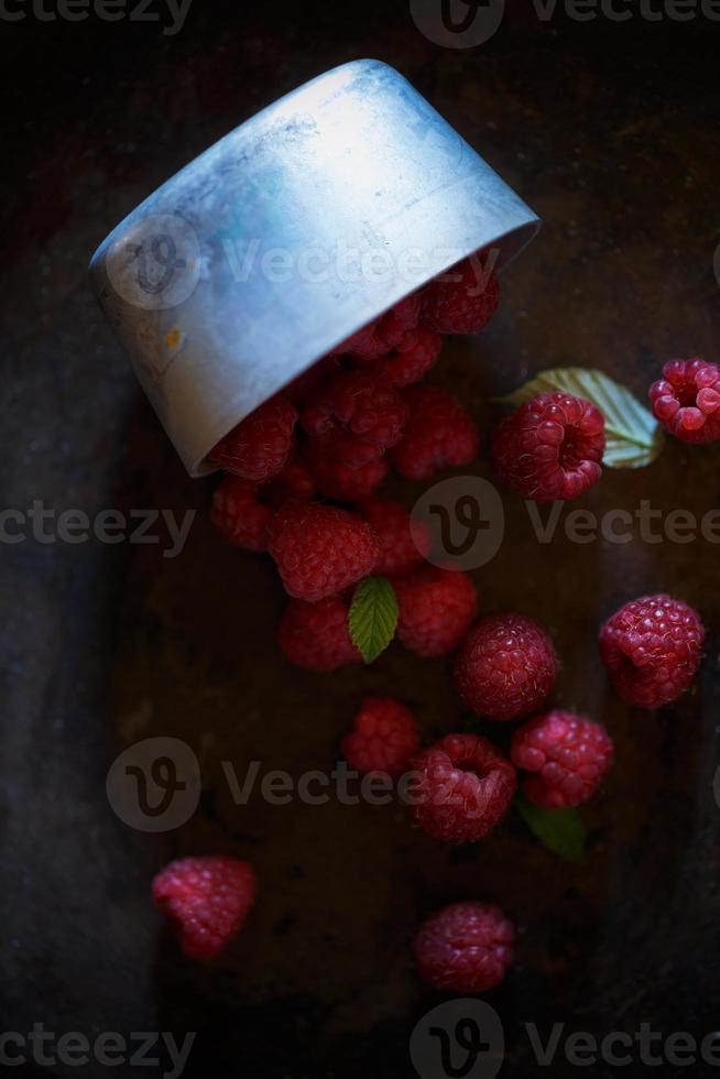 lampone, frutta cruda foto