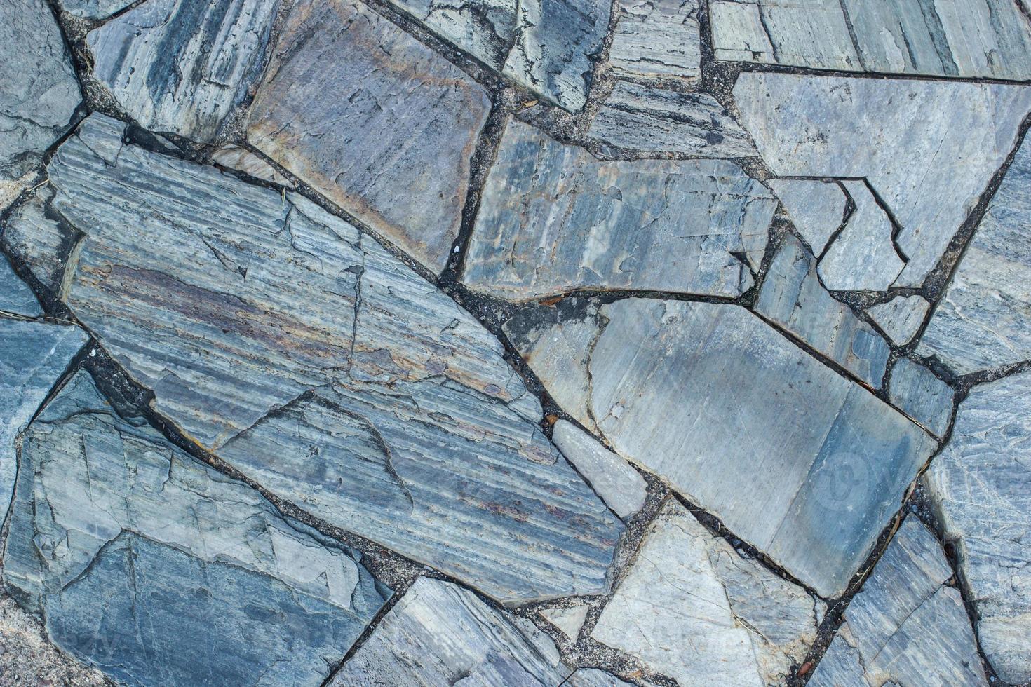 costruzione di fondali rocciosi foto
