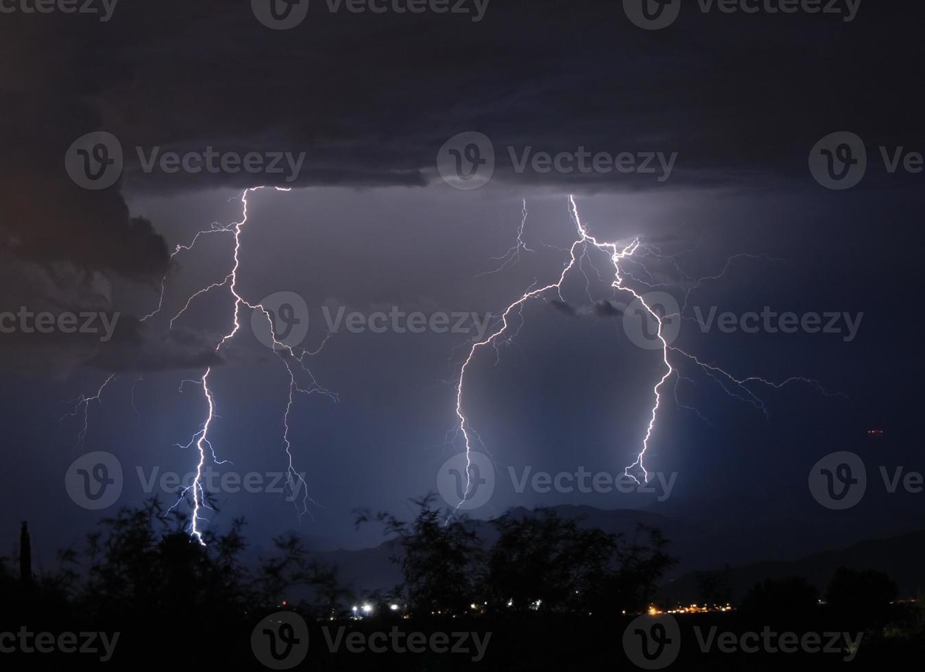 tempesta di fulmini. Tucson, Arizona foto