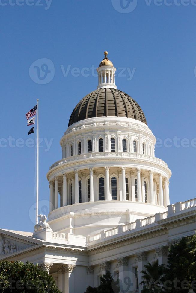 cupola della costruzione del Campidoglio dello stato di California foto