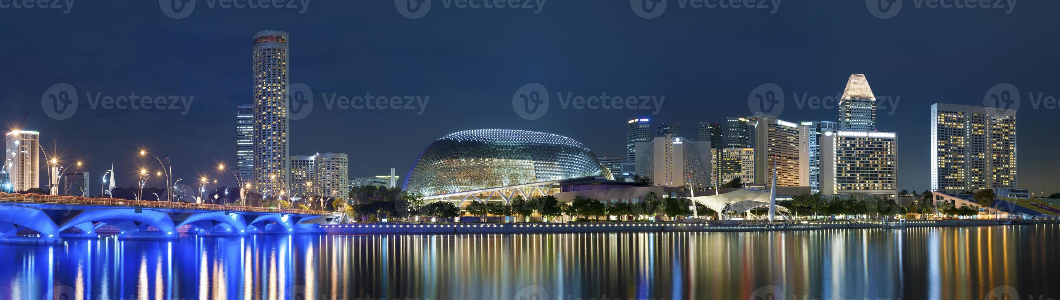 paesaggio urbano di Singapore foto