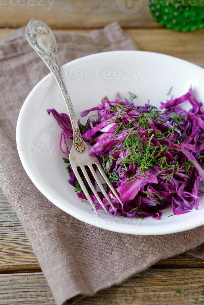 insalata fresca con cavolo foto