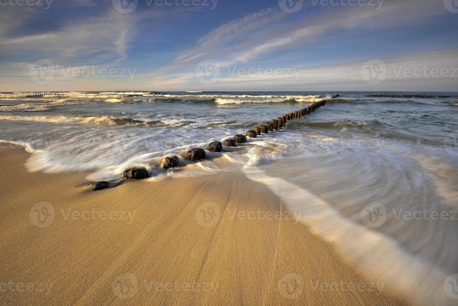Mar Baltico in uno splendido paesaggio foto