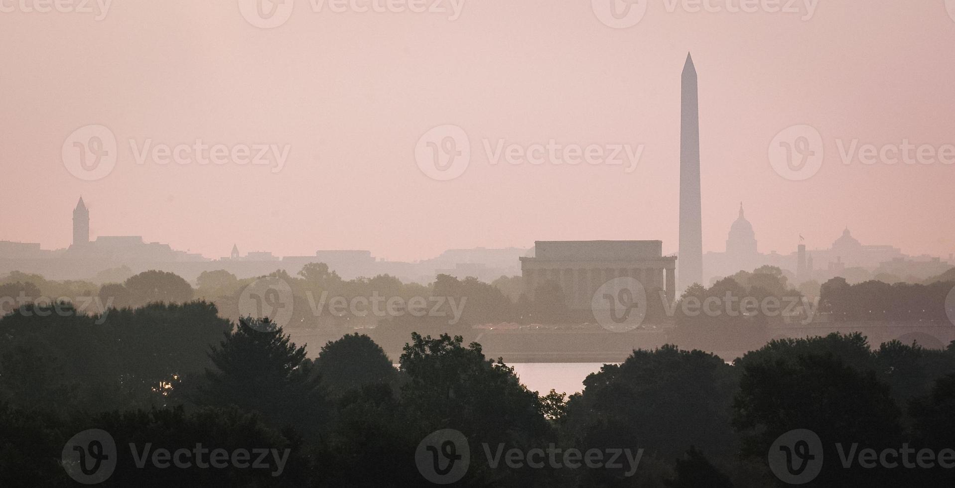 skyline di Washington DC foto