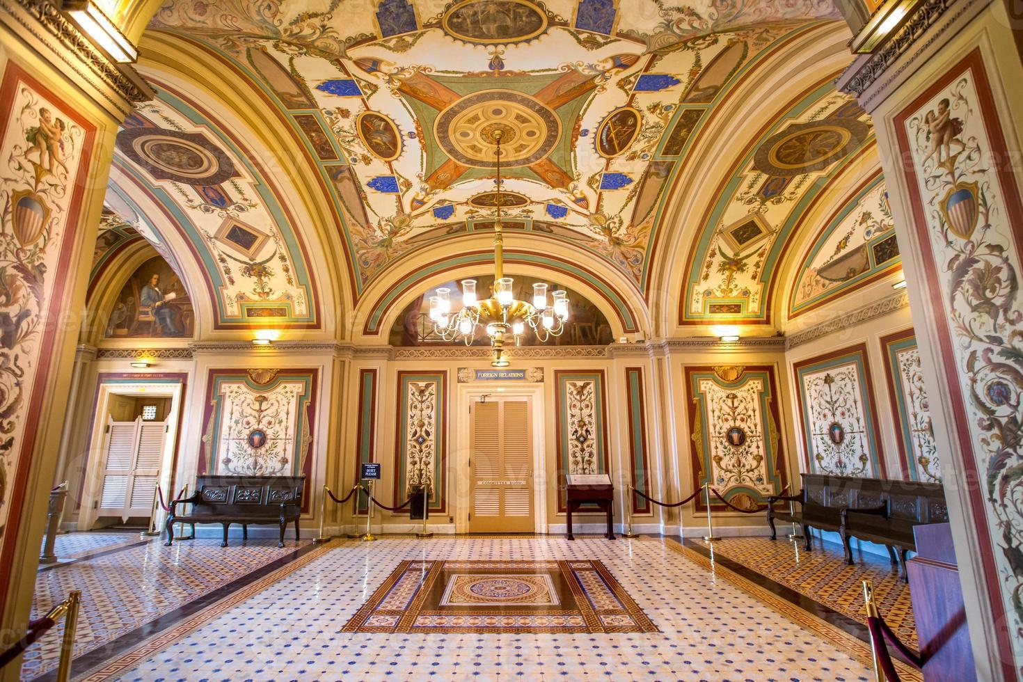 sala del comitato corridoio del brumidi del senato degli Stati Uniti foto