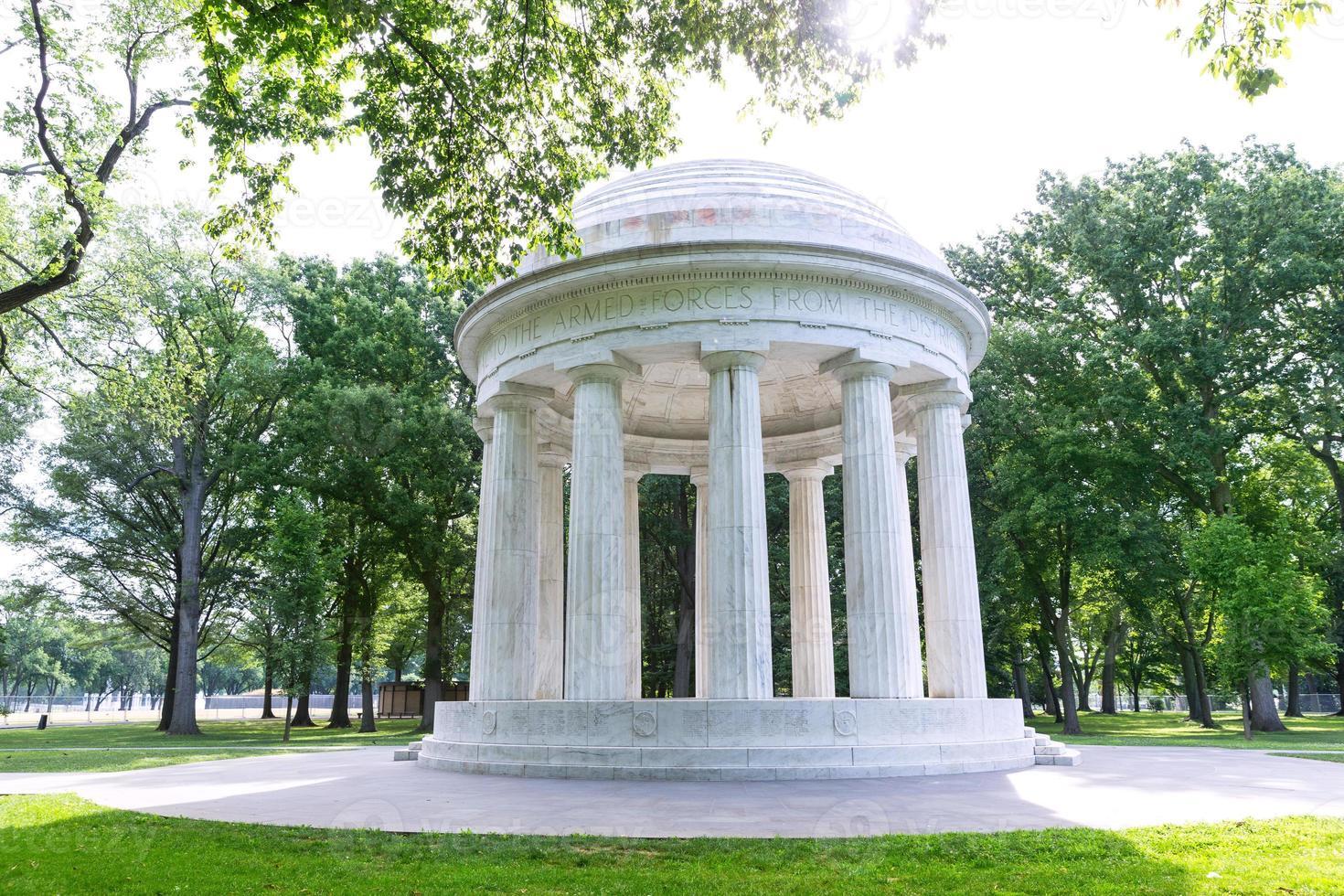 distretto di columbia war memorial washington dc foto