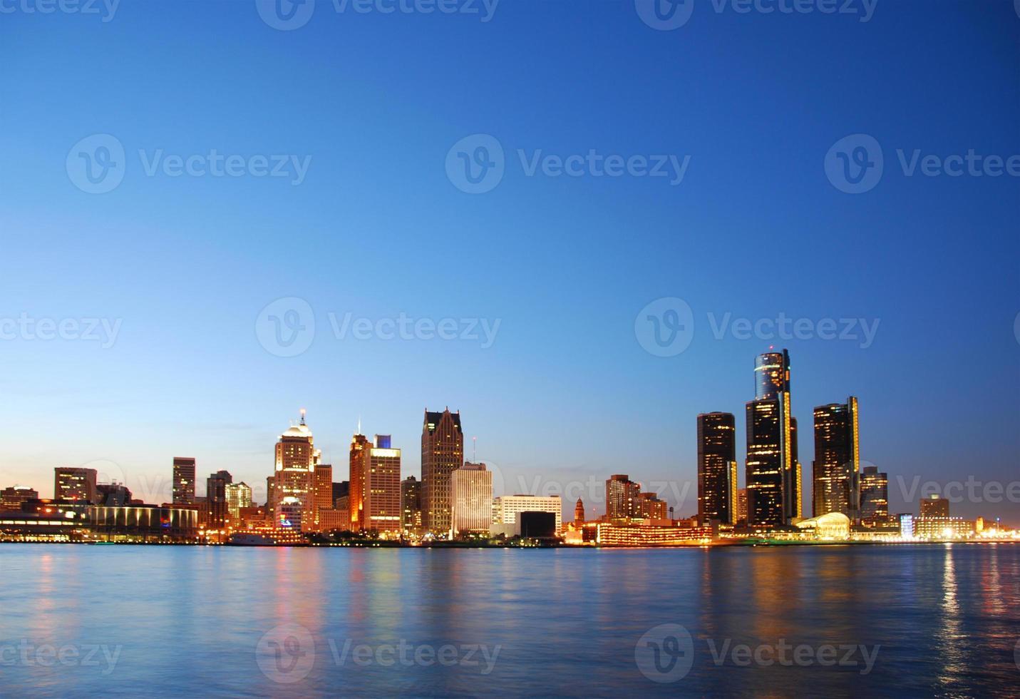 vista panoramica di detroit michigan foto