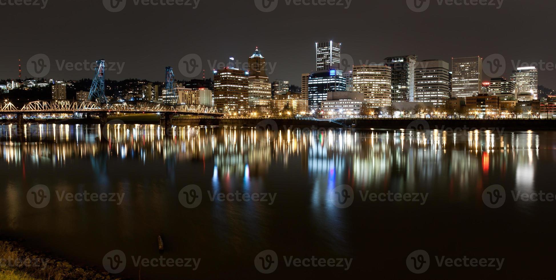 paesaggio di portland, oregon, stati uniti d'america. foto