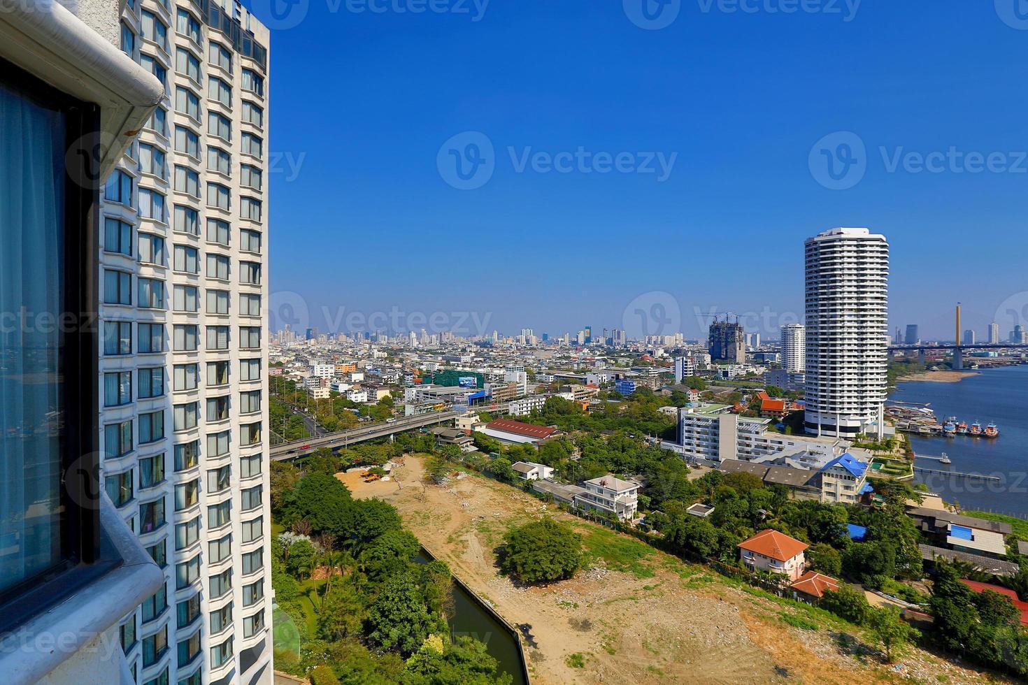 skyline di bangkok. foto