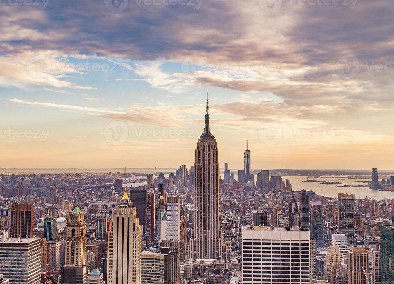 New York City al tramonto foto