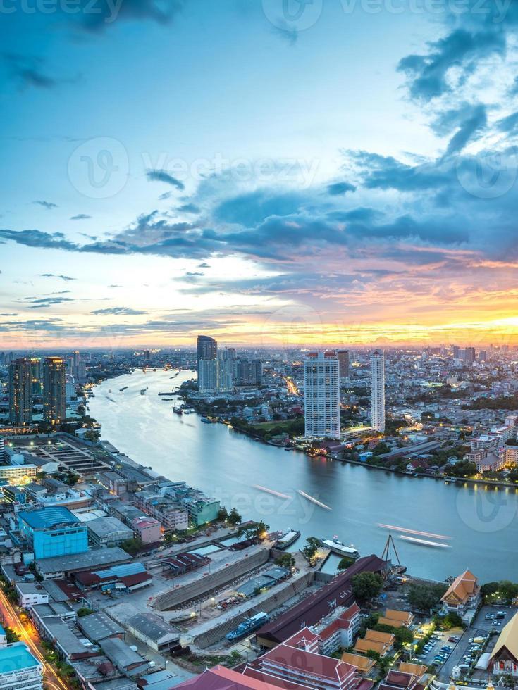 paesaggio del fiume Chaophraya, Bangkok foto