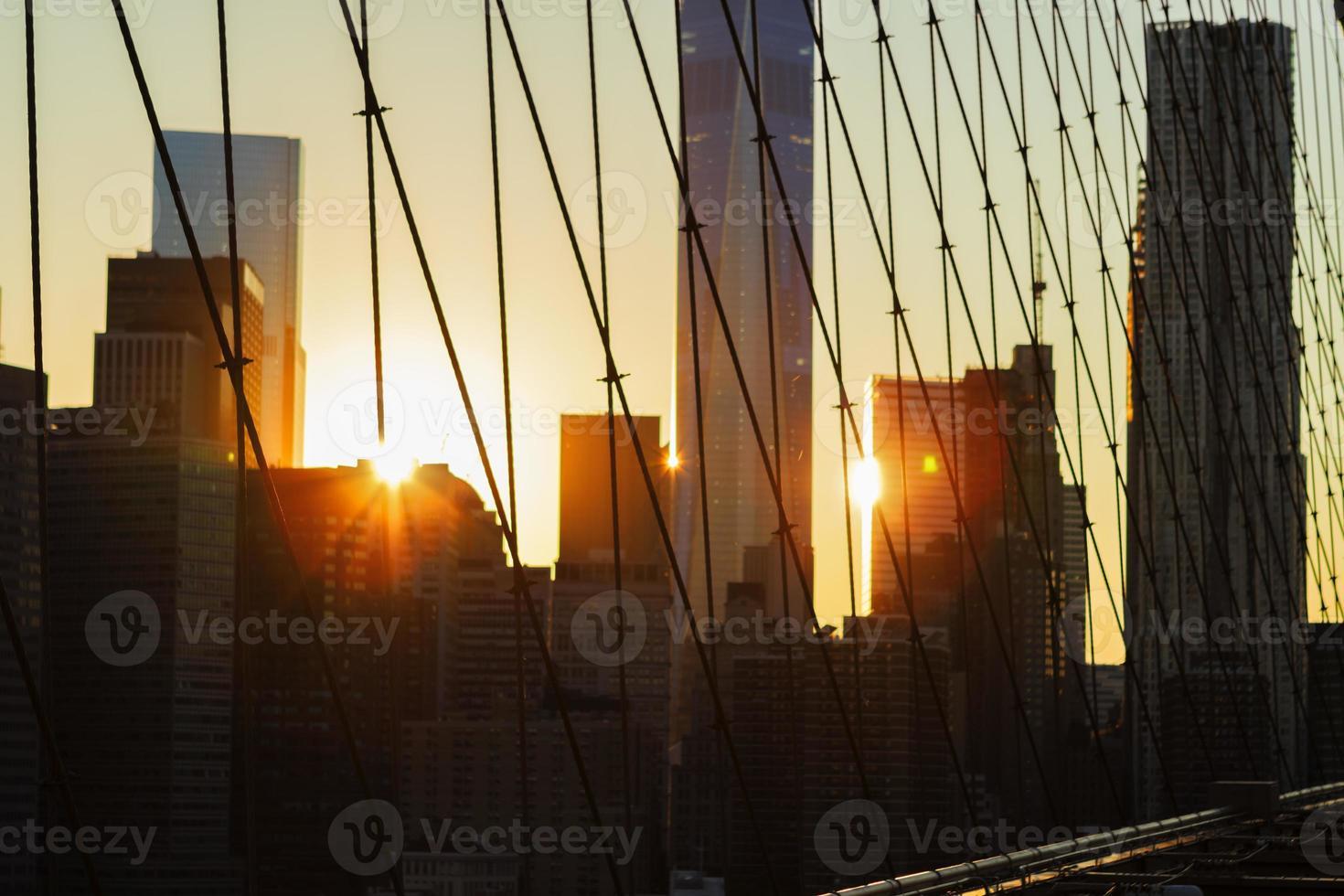 New York City al tramonto. foto
