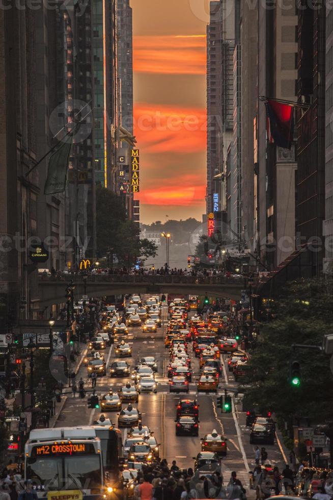 Manhattanhenge foto