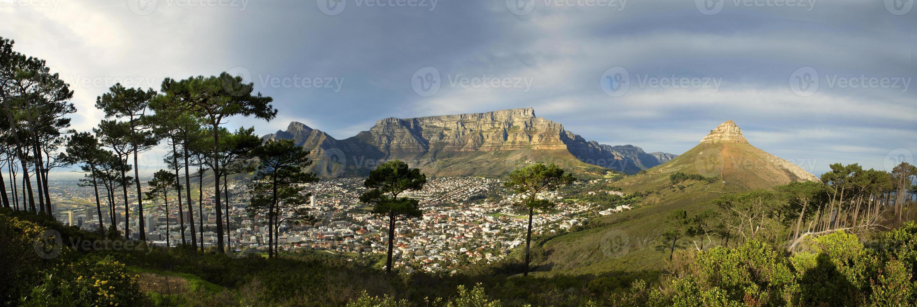 table mountain dalla collina del segnale foto