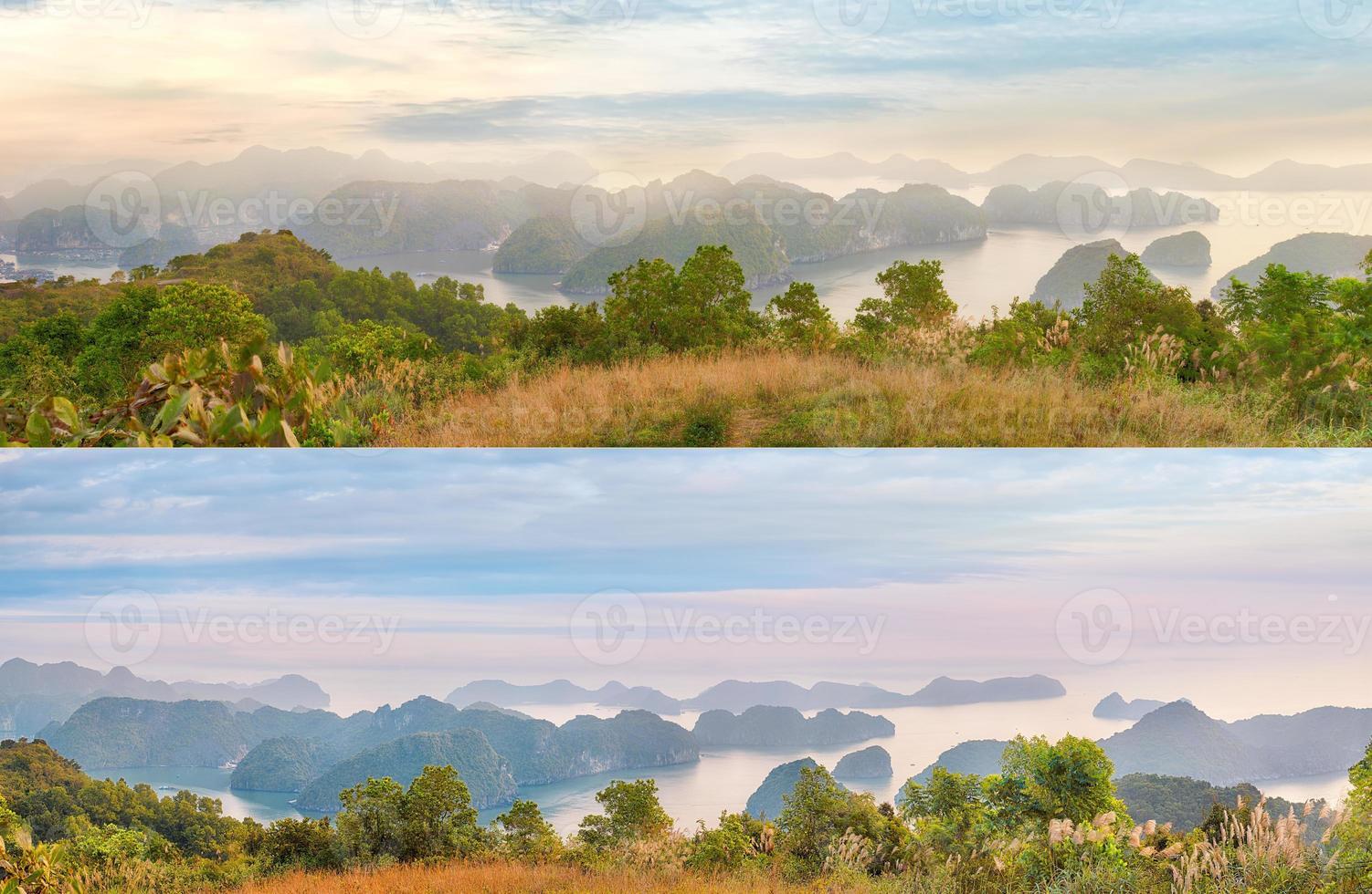 panorama panoramico della baia di halong foto