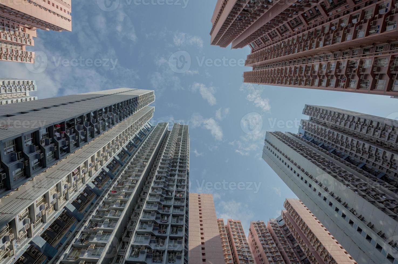 alloggio affollato a Hong Kong foto