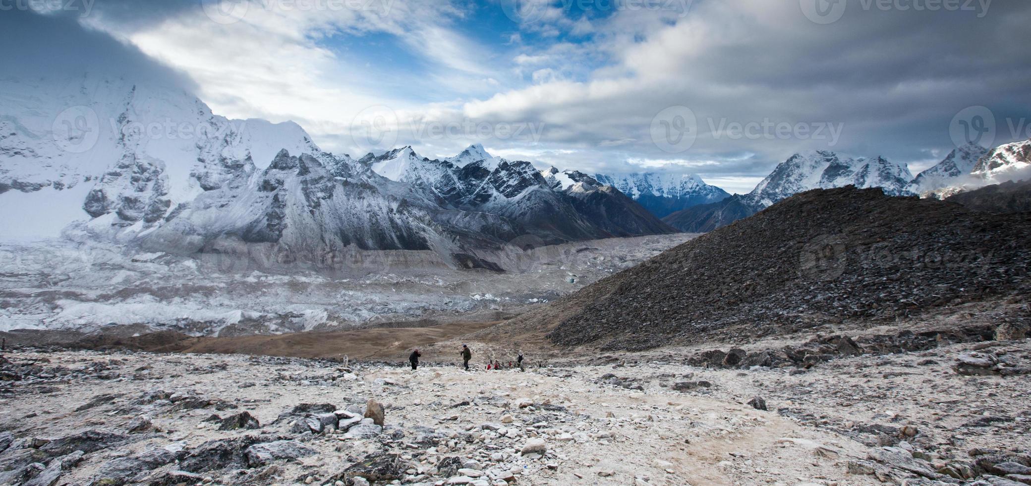 visualizzare in parte del campo base dell'Everest a Khumbu foto