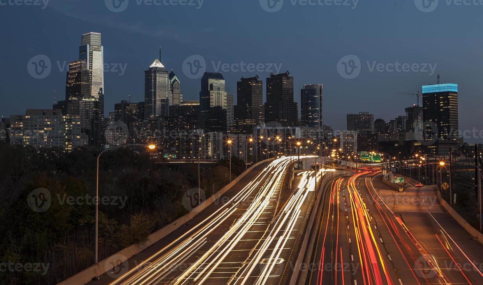 Philadelphia di notte foto