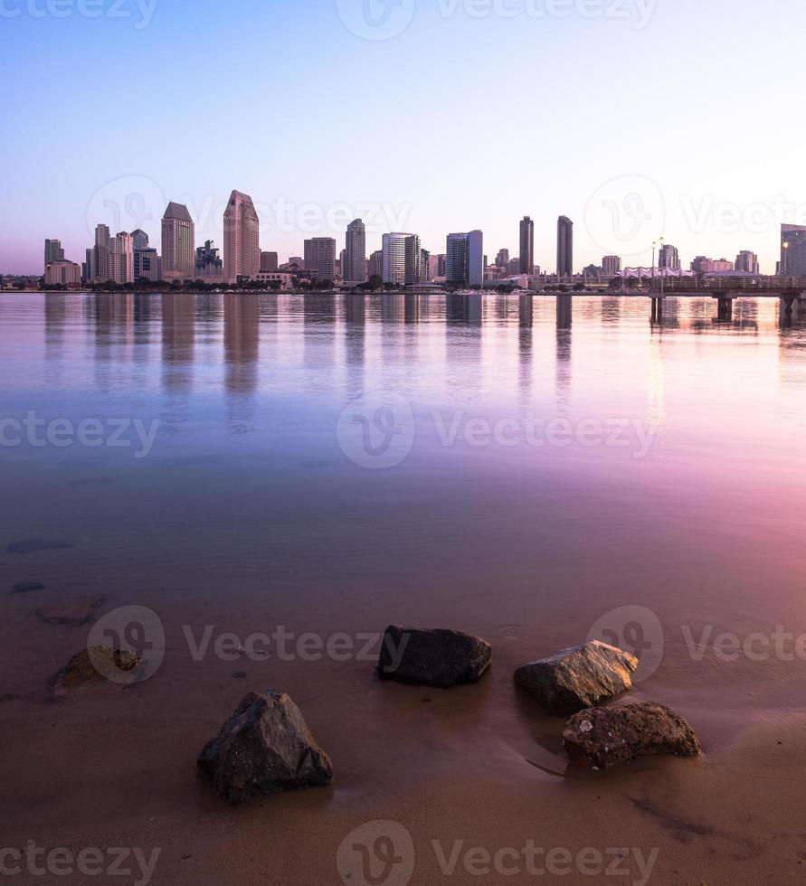 downtown san diego city and bay, california del sud usa foto