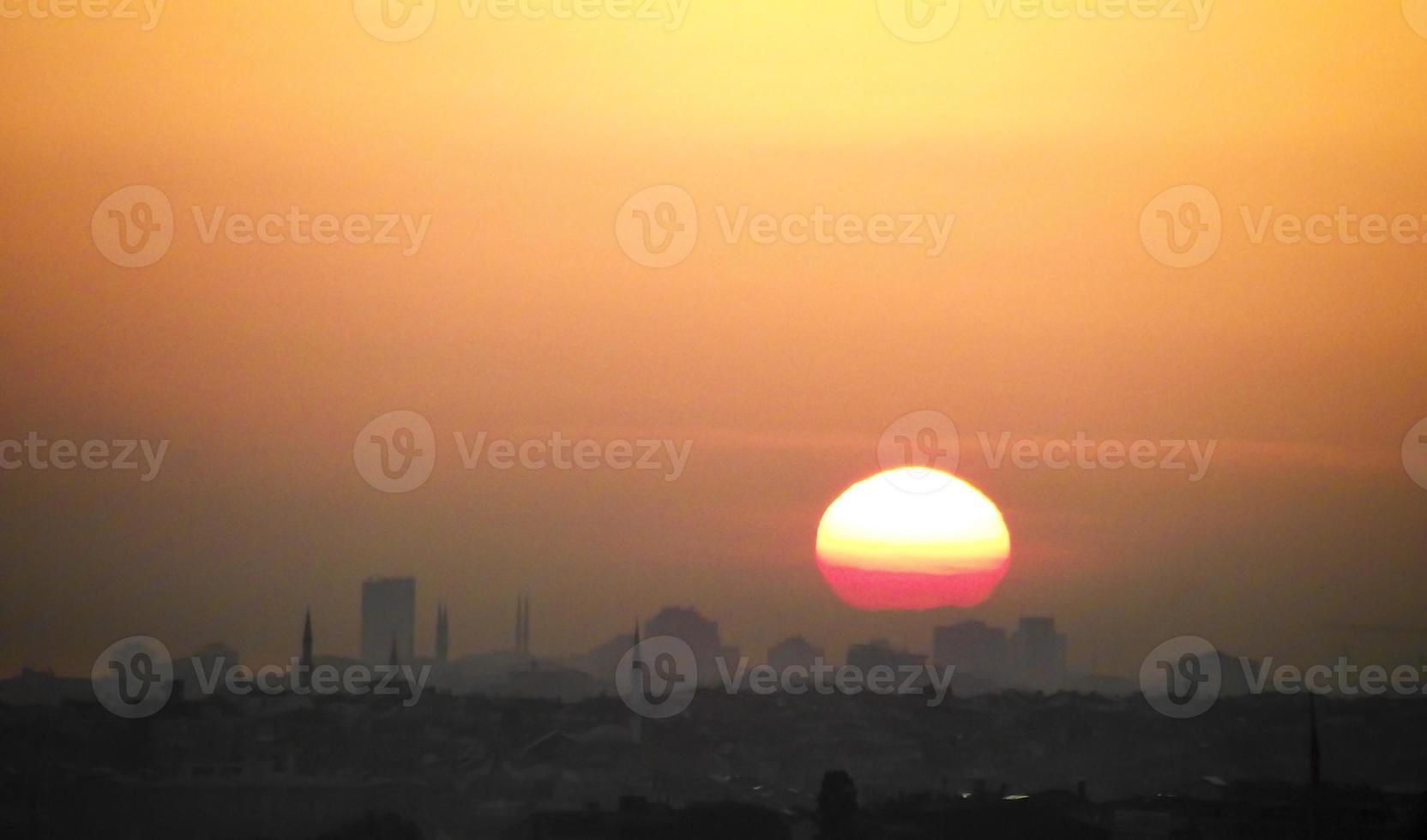 tramonto a istanbul foto