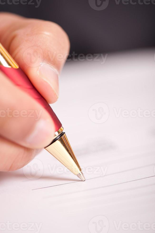 firma della penna foto