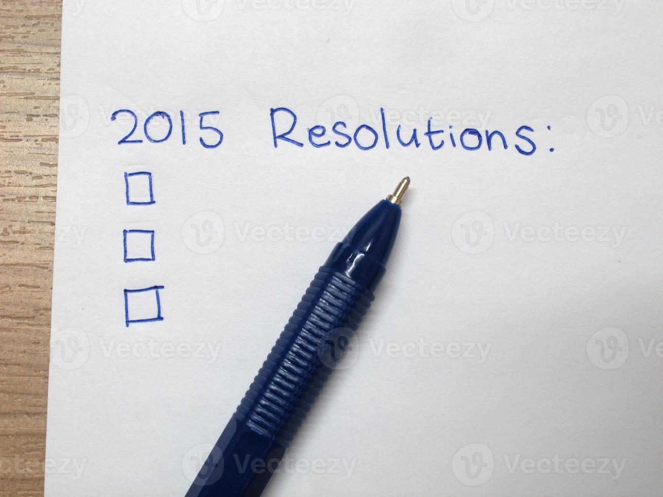 risoluzione del nuovo anno 2015 foto