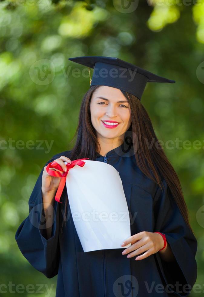 studenti di laurea foto