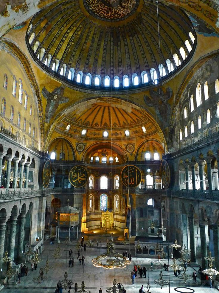 istanbul, turquie, mosquée, mihrab, sainte sophie foto
