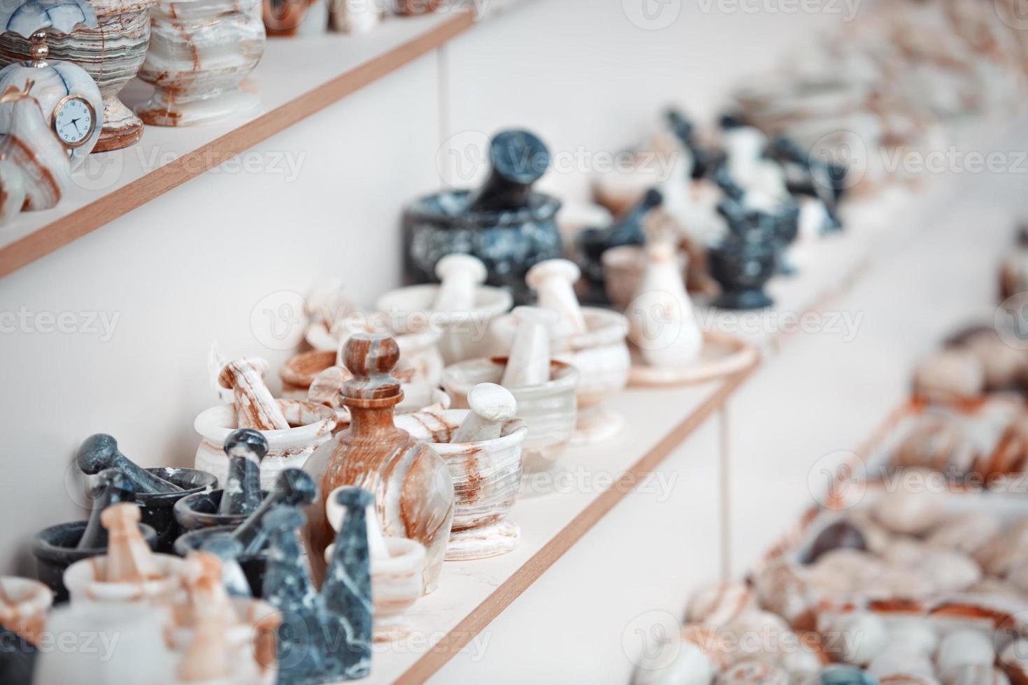 oggetti fatti a mano in onice foto