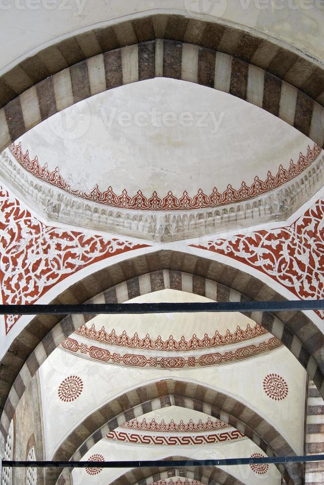 dettaglio della moschea blu di istanbul foto