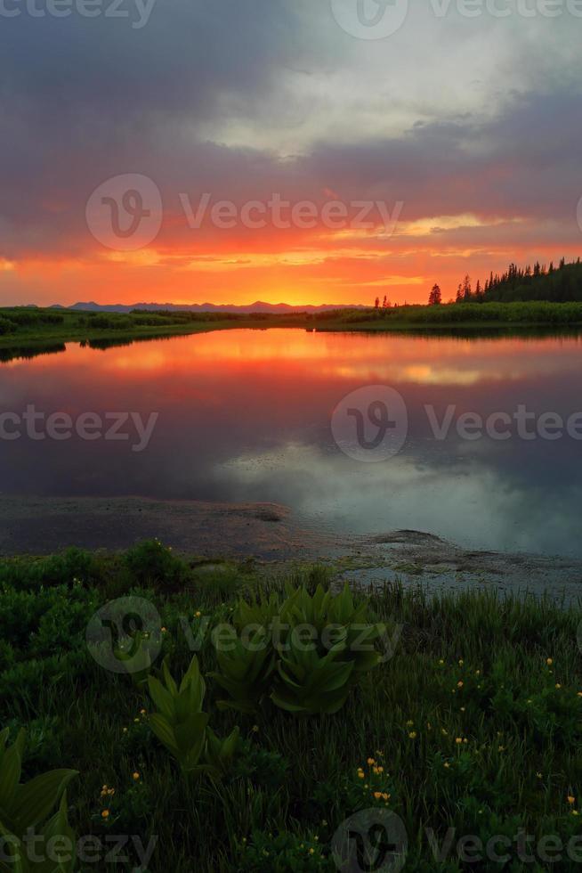 tramonto colorato foto