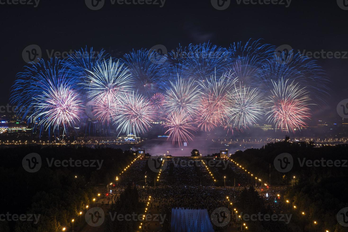 fuochi d'artificio a Mosca foto