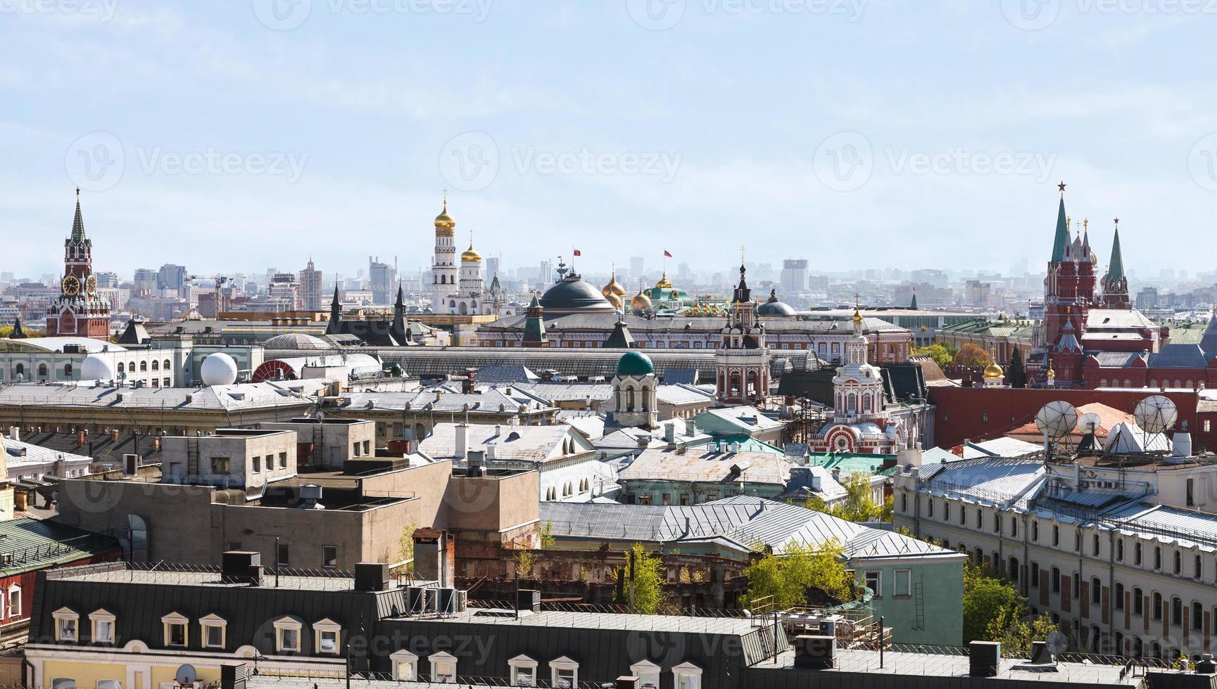 centro storico della città di Mosca con il Cremlino foto