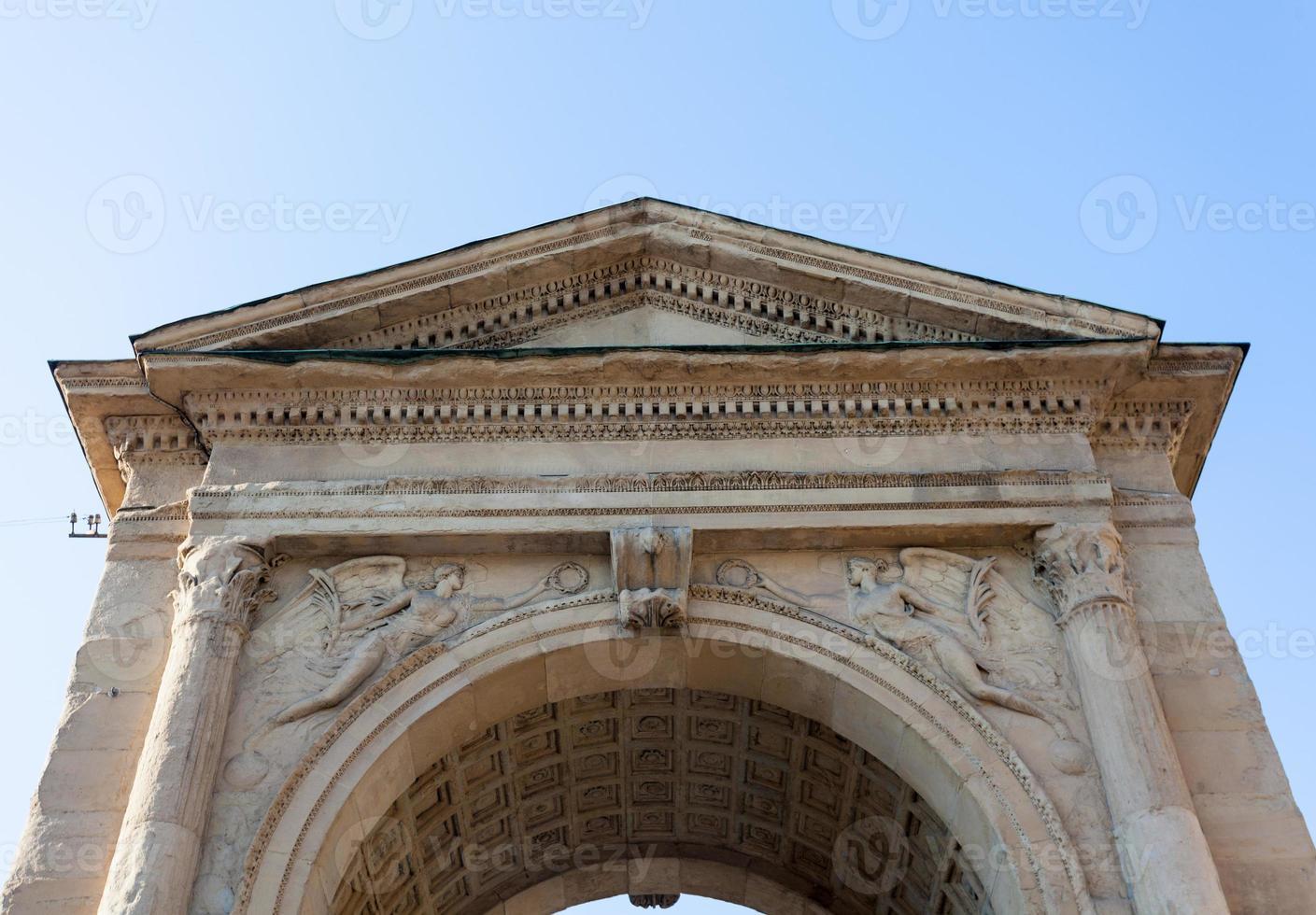 porta nuova, vista dall'alto frontale, milano, italia foto