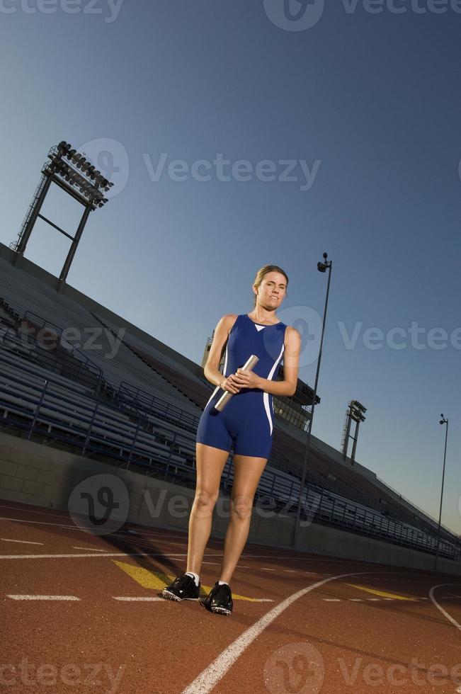 atleta di pista femminile foto