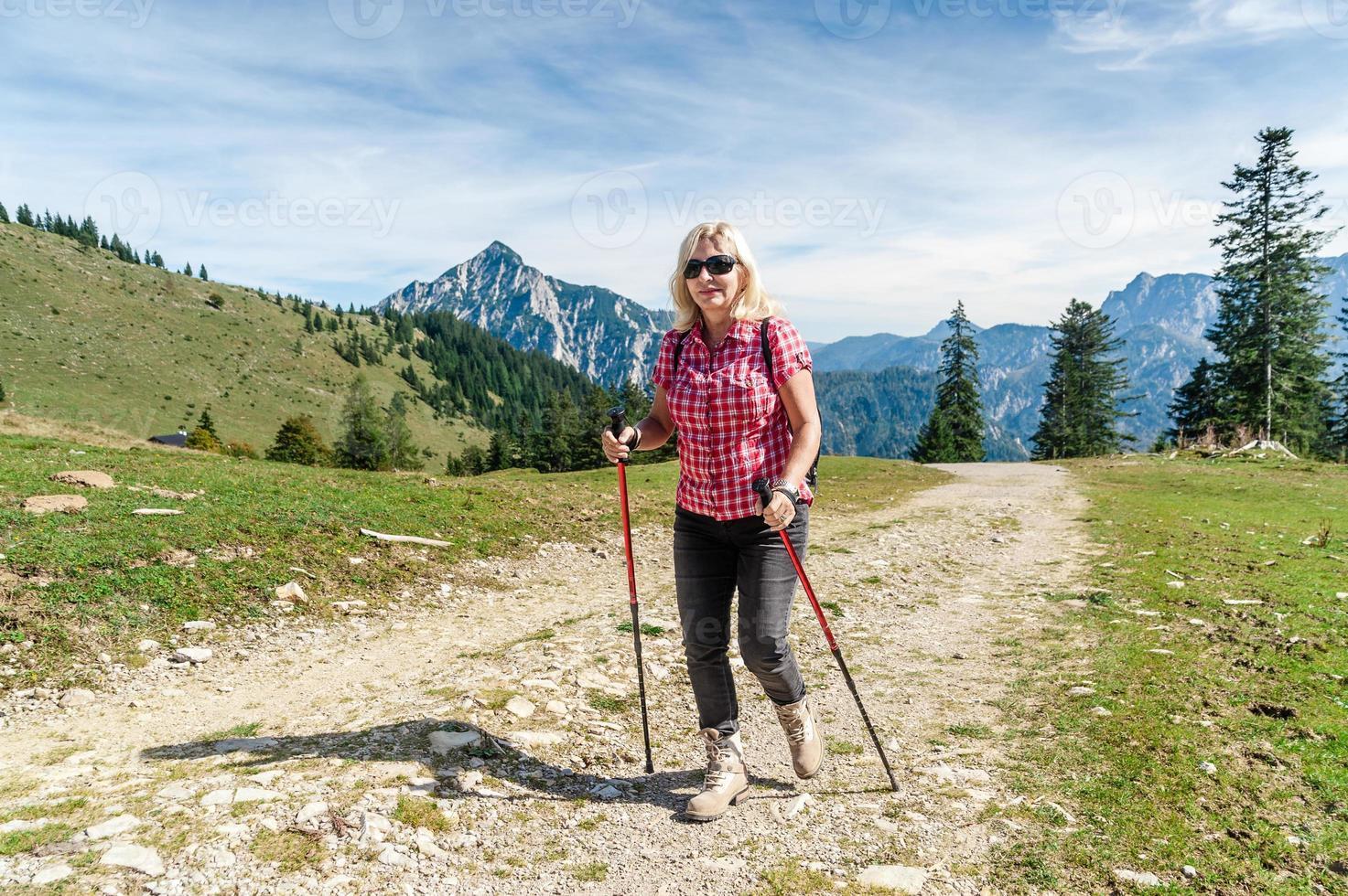 escursionista femmina foto