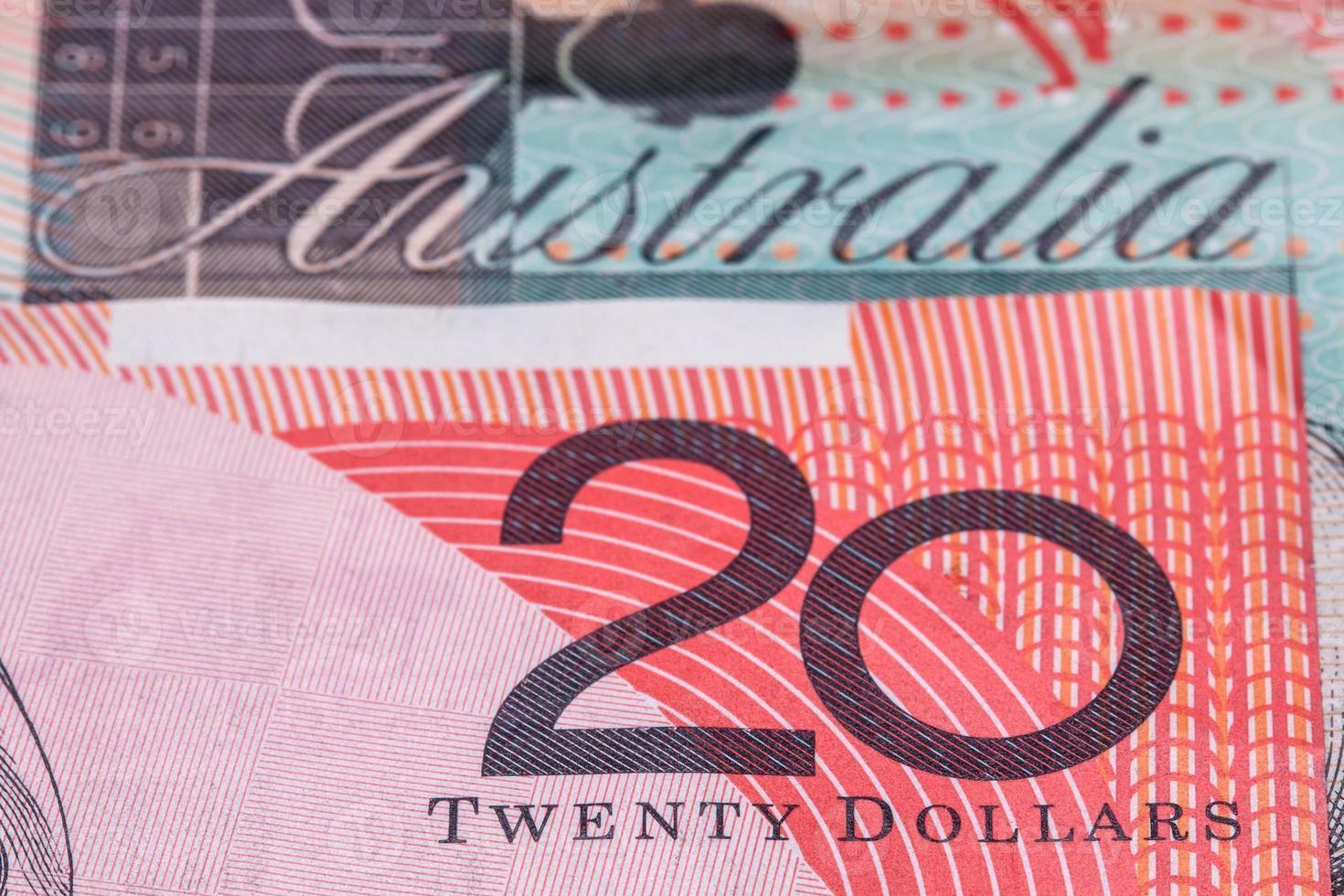 banconote da venti dollari australiani ($ 20) foto