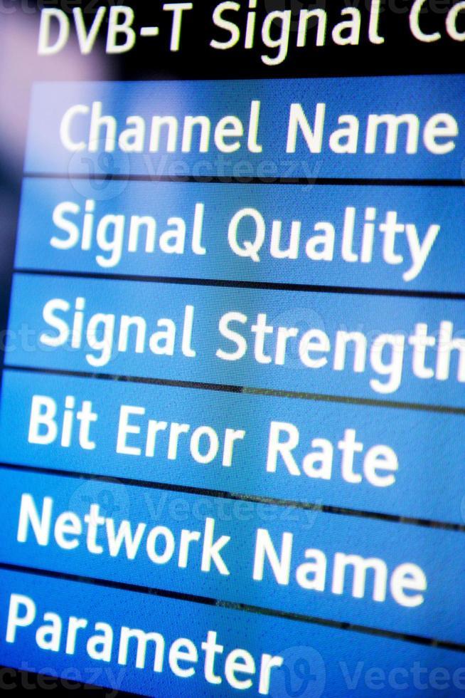 menu segnale tv foto