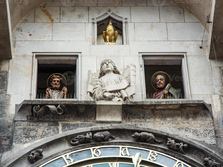 famoso orologio astronomico a praga, repubblica ceca foto