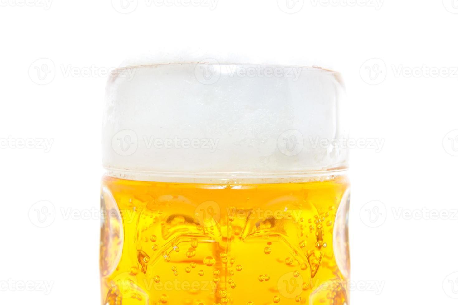 tipico boccale di birra bavarese foto