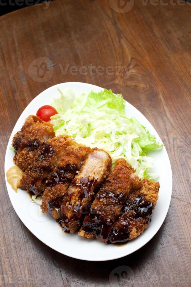 tonkatsu di cucina giapponese foto