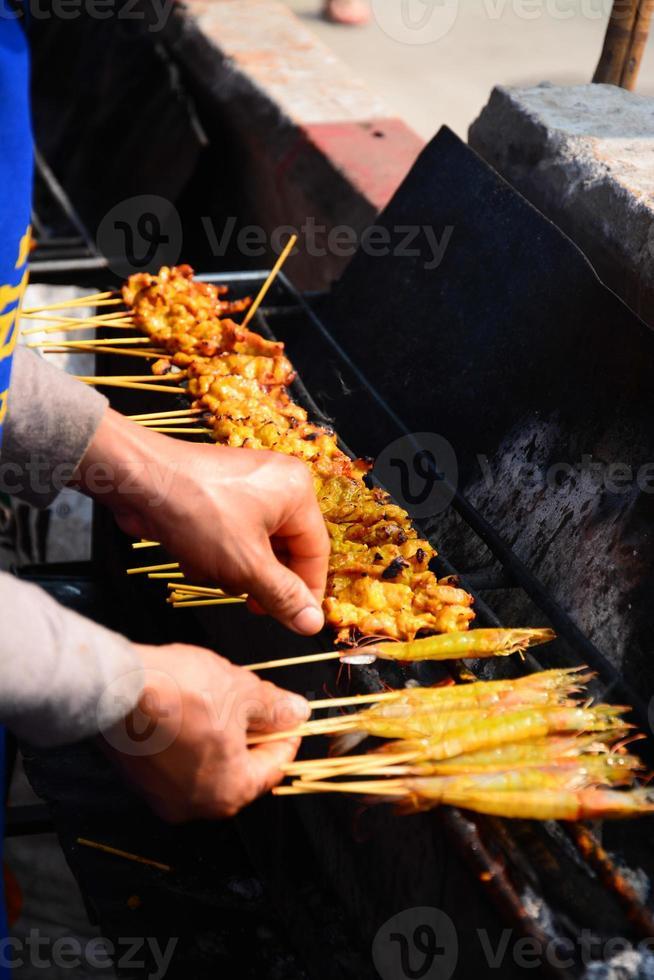 carne di maiale arrostita bistecca tailandese tradizionale foto