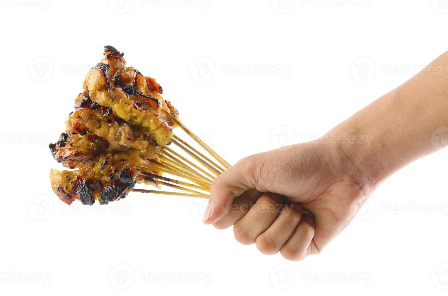 pollo satay fresco foto