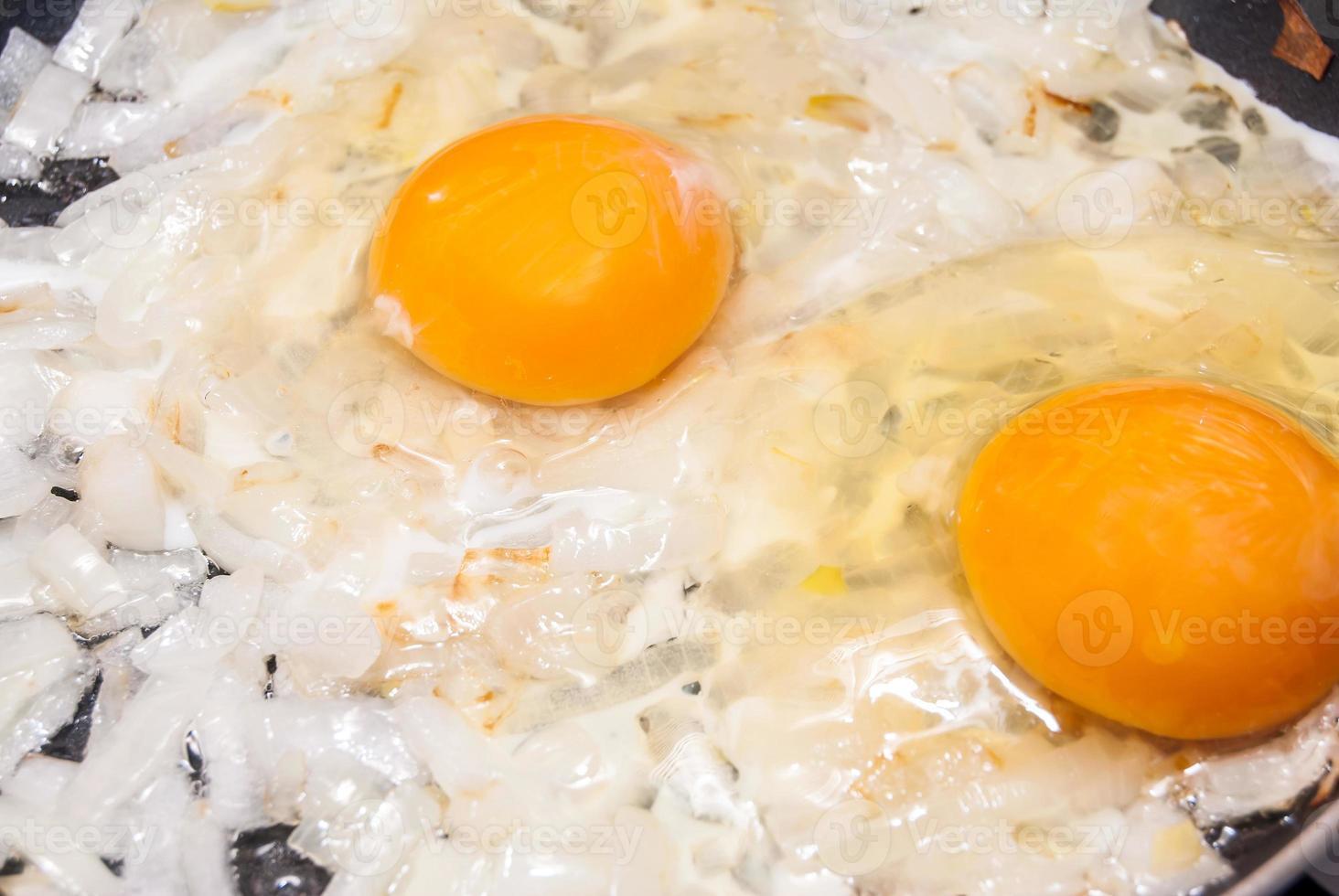 uovo fritto foto