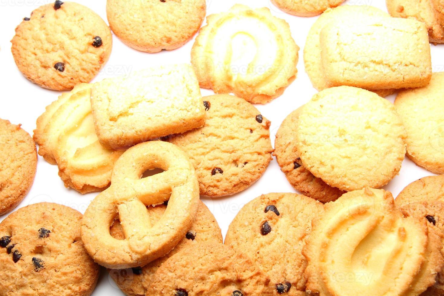 biscotto su sfondo bianco foto